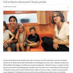 519 enfants rentrouvent l'école privée