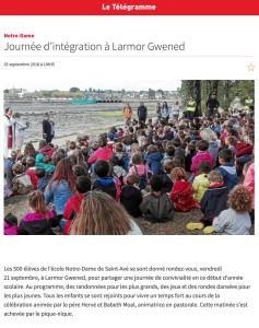 Journée d'intégration à Larmor Gwened