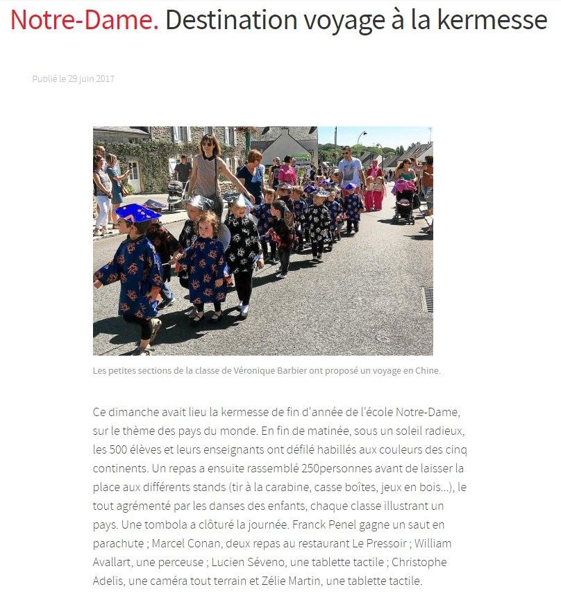 Destination voyage à la kermesse
