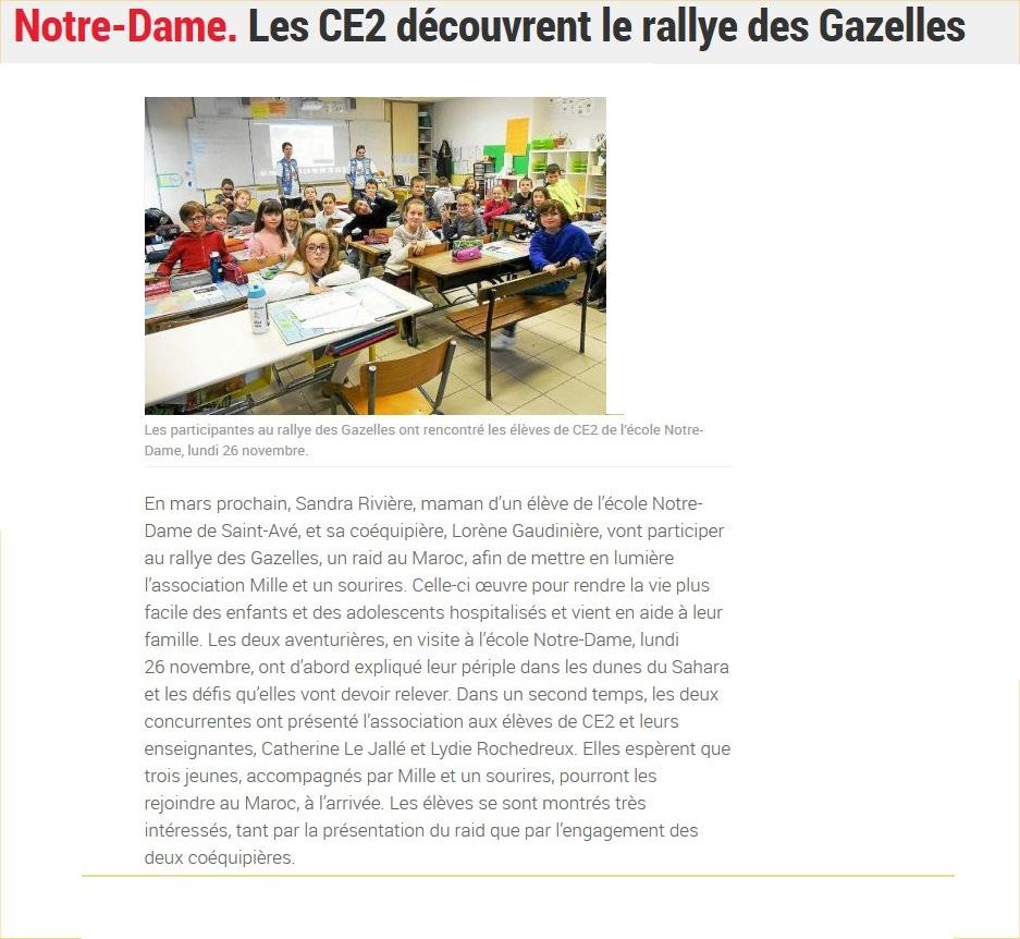 Les CE2 découvrent le rallye des Gazelles