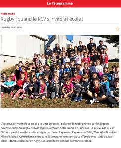 Rugby : quand le RCV s'invite à l'école !