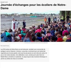 Journée d'échanges pour les écoliers de Notre-Dame