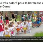 rès coloré pour la kermesse de Notre-Dame