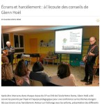 Ecrans et harcèlement : à l'écoute des conseils de Glenn Hoël