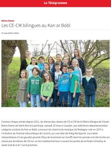 Les CE-CM au Kan ar Bobl