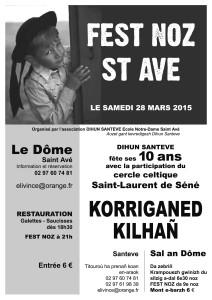 Fest Noz du 28 mars 2015 au Dôme