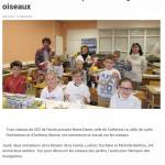 Les écoliers ont fabriqué des mangeoires à oiseaux