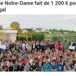 L'école Notre-Dame fait un don de 1200€ pour le Sénégal
