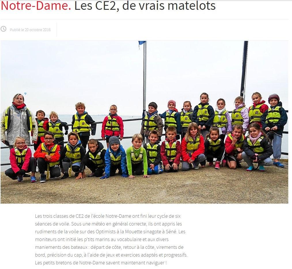 Les CE2, de vrais matelots