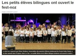 Les petits bilingues ont ouvert le fest-noz