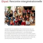 EHPAD: rencontre intergénérationelle