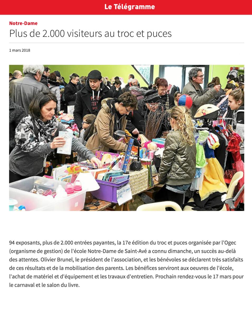 Plus de 2 000 personnes au Troc et puces