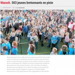 Roue Waroch. 503 jeunes bretonnants en piste