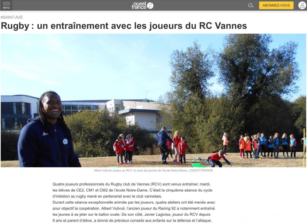 Rugby, un entrainement avec les joueurs du RC Vannes