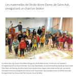 Les maternelles enregistrent un chant en breton
