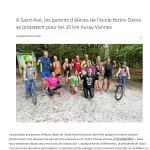 Les parents d'élèves se préparent pour les 10 km Auray-Vannes